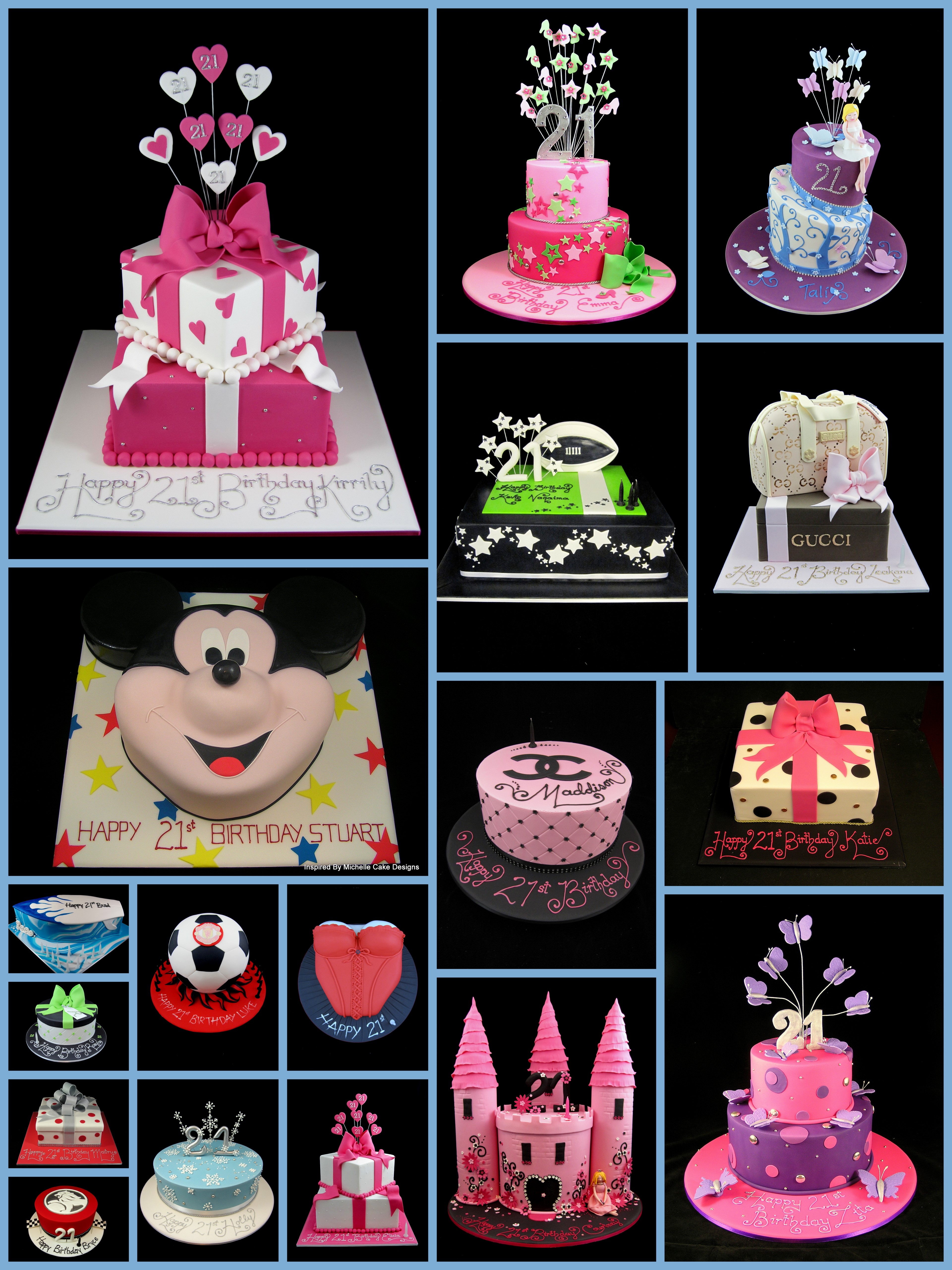 21st birthday cake ideas for boys and girls