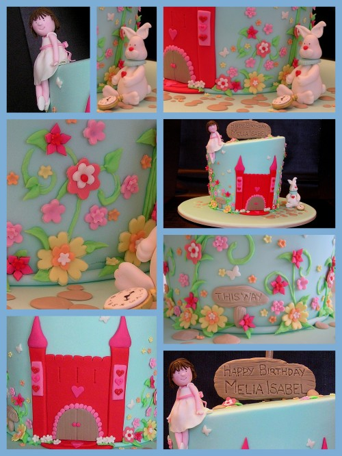 alice in wonderland birthday cake idea image collage