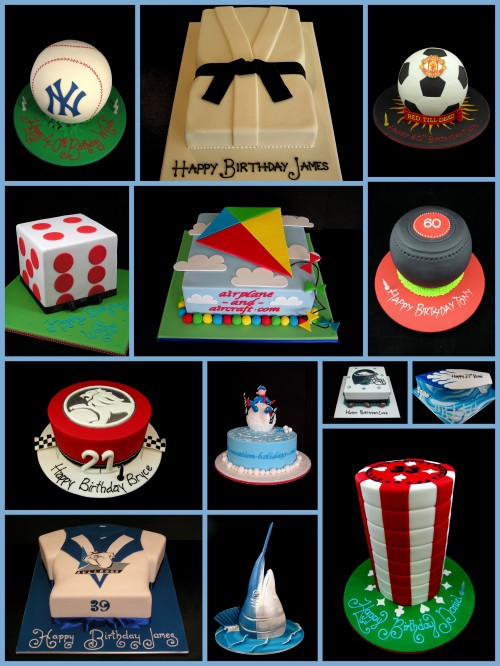 sport cake ideas for mens cakes