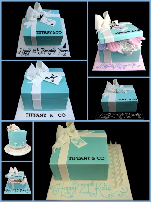 tiffany gift box present cake ideas