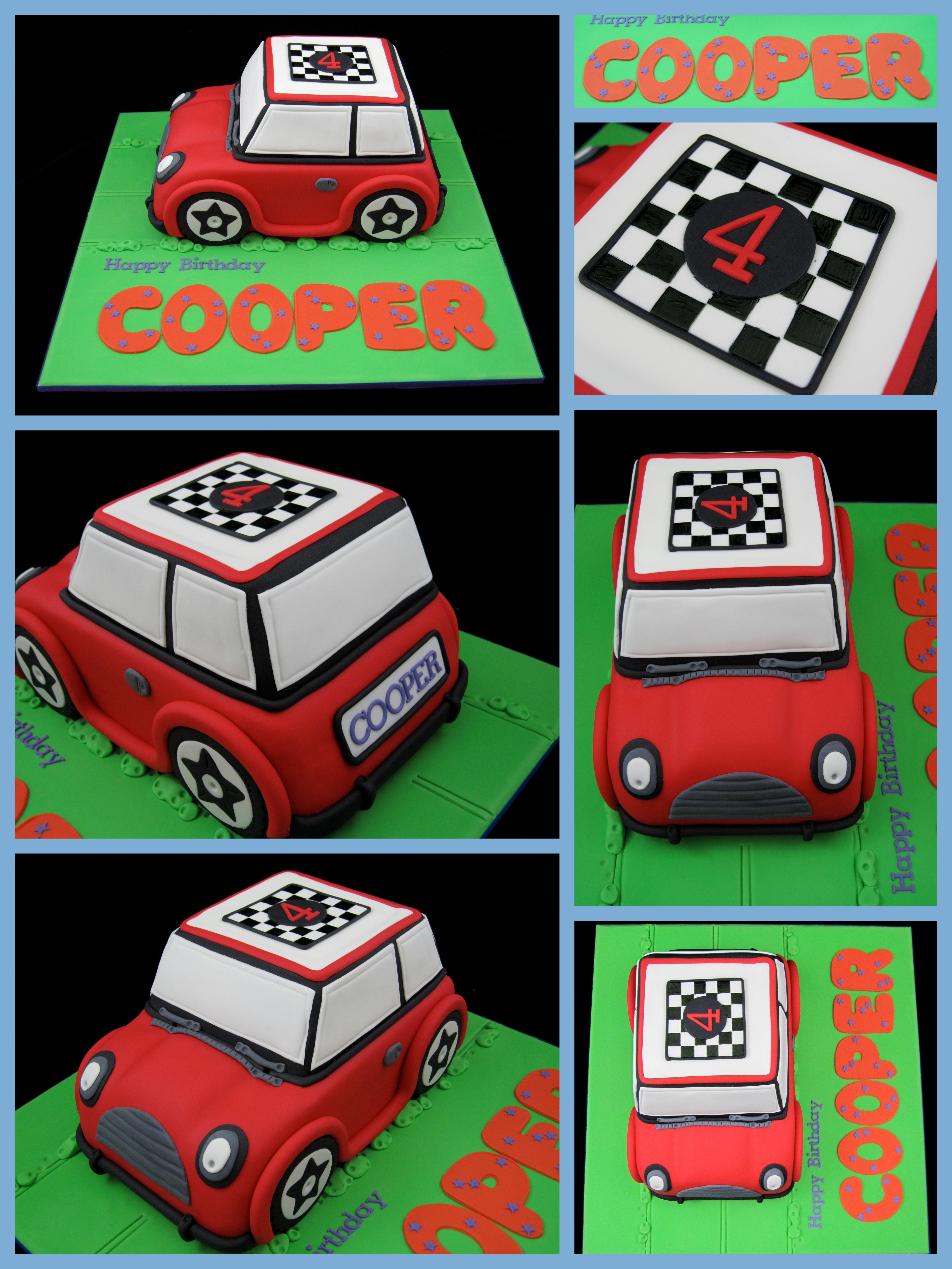Mini Cooper 4th Birthday Cake Inspired By Michelle