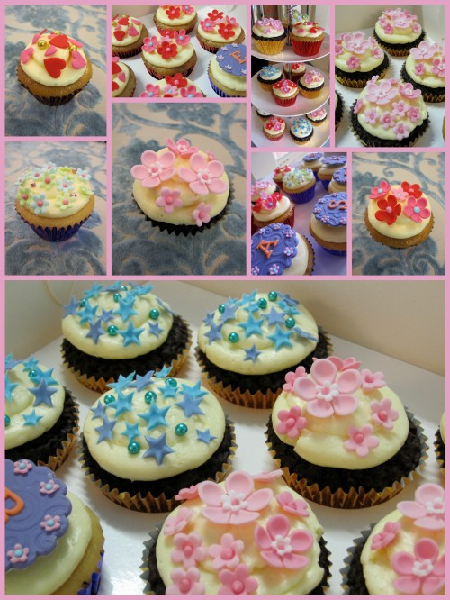simply decorated easter cupcakes