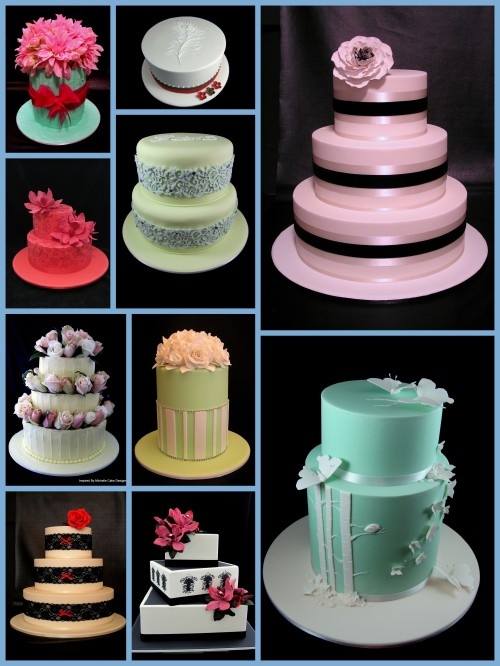 wedding cake designs by Inspired by Michelle Cake Designs