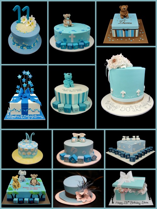blue decorated cake ideas inspired by michelle cake designs