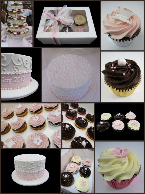 christening cupcake tower buttercream and ganache inspired by michelle cake designs sydney