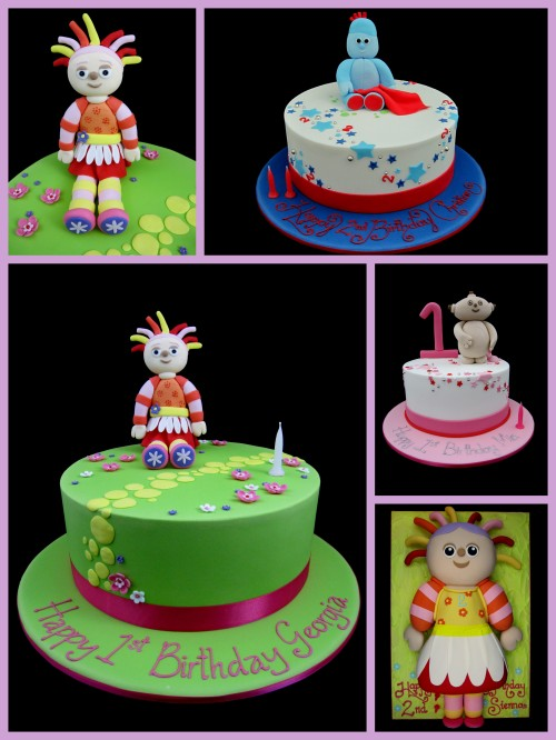 Cakes for boys inspired by michelle for In the night garden cakes designs
