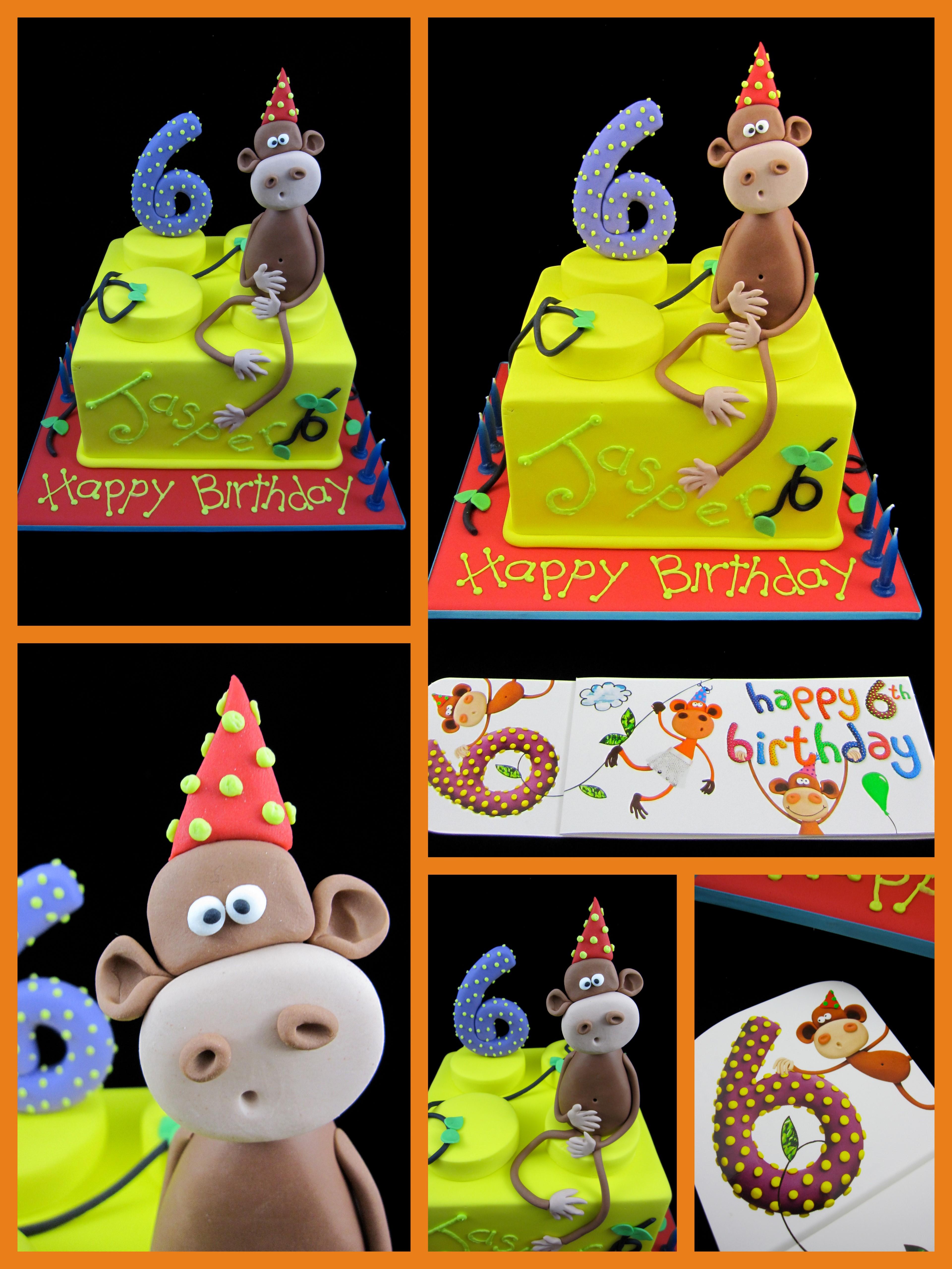 6th Birthday Lego Block Cake Cheeky Monkey Inspired By Michelle Designs