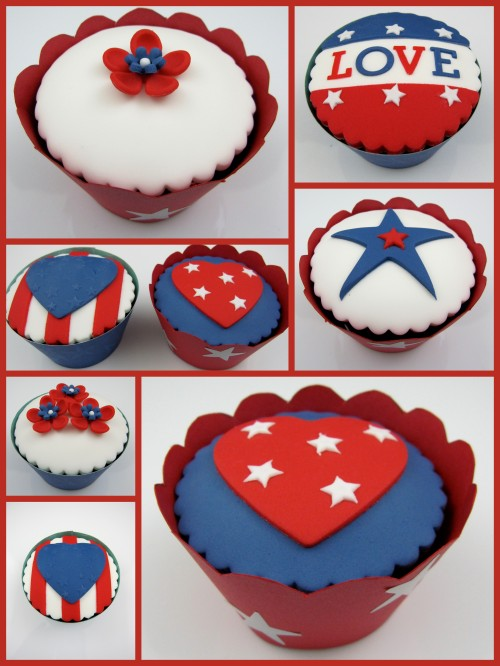 4th of July cupcake decorating ideas Inspired by Michelle Cake Designs