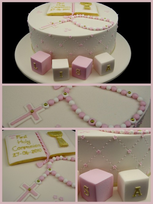 first holy communion cake for girl inspired by michelle cake designs