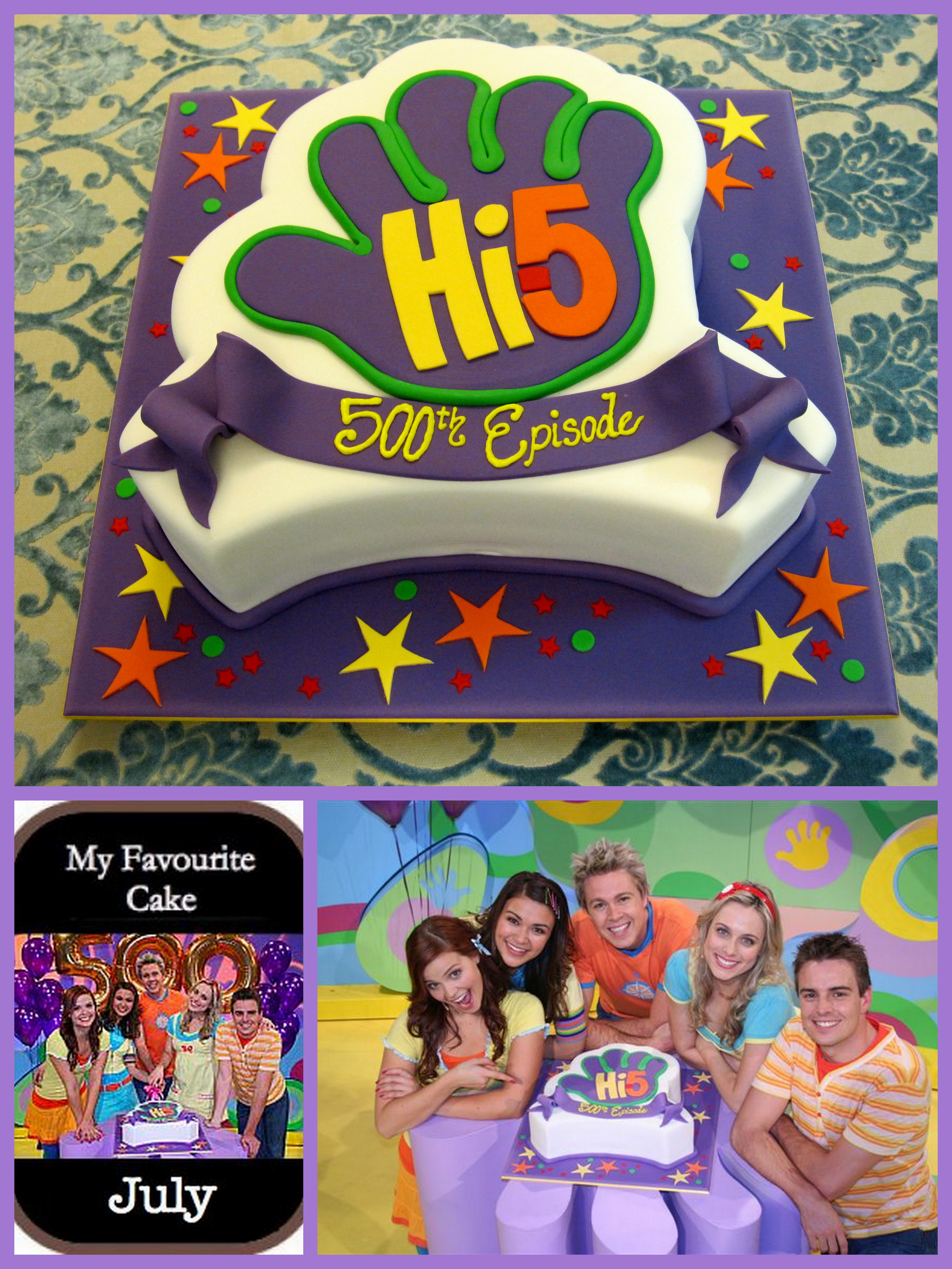 Hi 5 Cake Idea 500th Episode Celebration Inspired By Michelle Designs